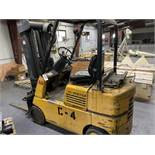 """Located in Canon City CO: Hyster 50 triple mast , propance forklift, rated at 3350lbs at 24"""" 185.5"""