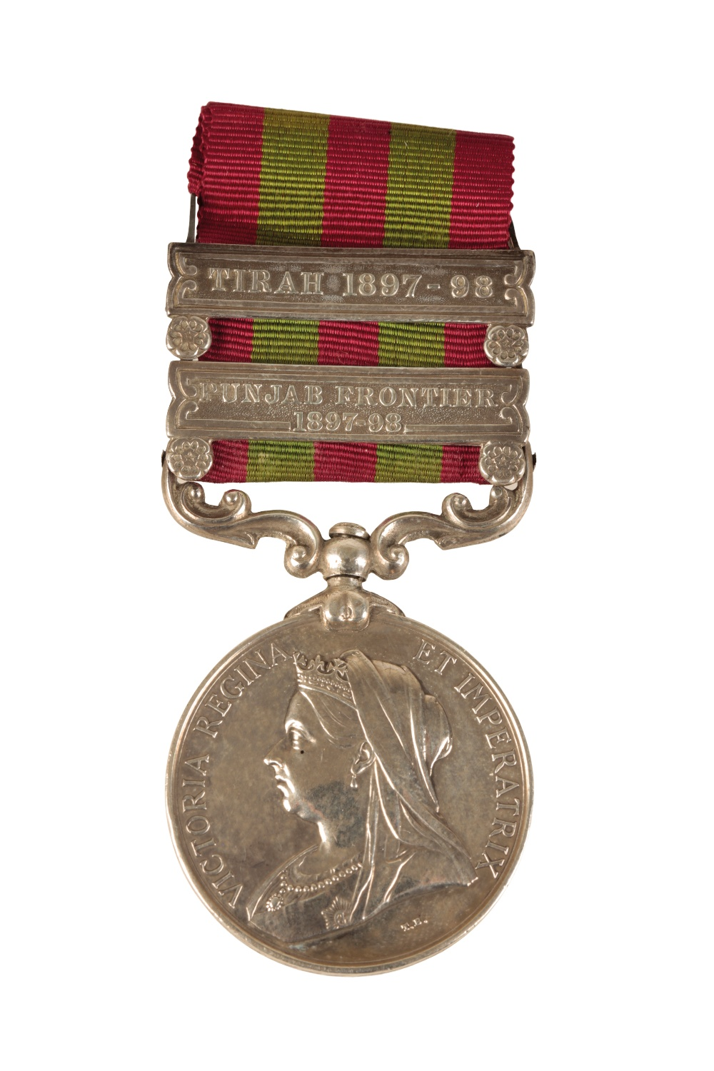 Lot 59 - TWO CLASP 1895 INDIAN GENERAL SERVICE MEDAL TO 4449 PTE G W PHILLIPS SUSSEX REGIMENT