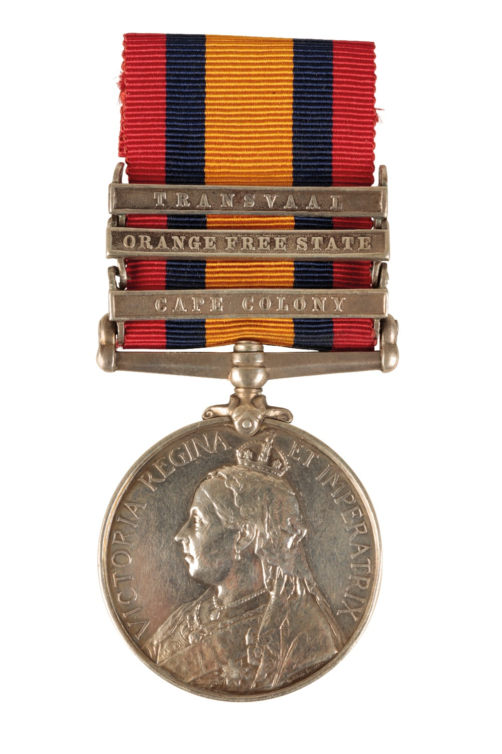 Lot 57 - THREE BAR QUEENS SOUTH AFRICA MEDAL TO 3100 PTE B GROVES BERKSHIRE REGIMENT