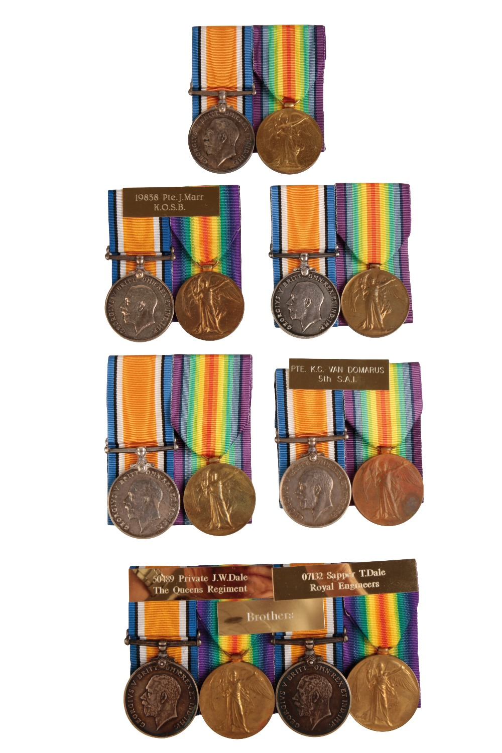 Lot 26 - SEVEN GREAT WAR PAIRS