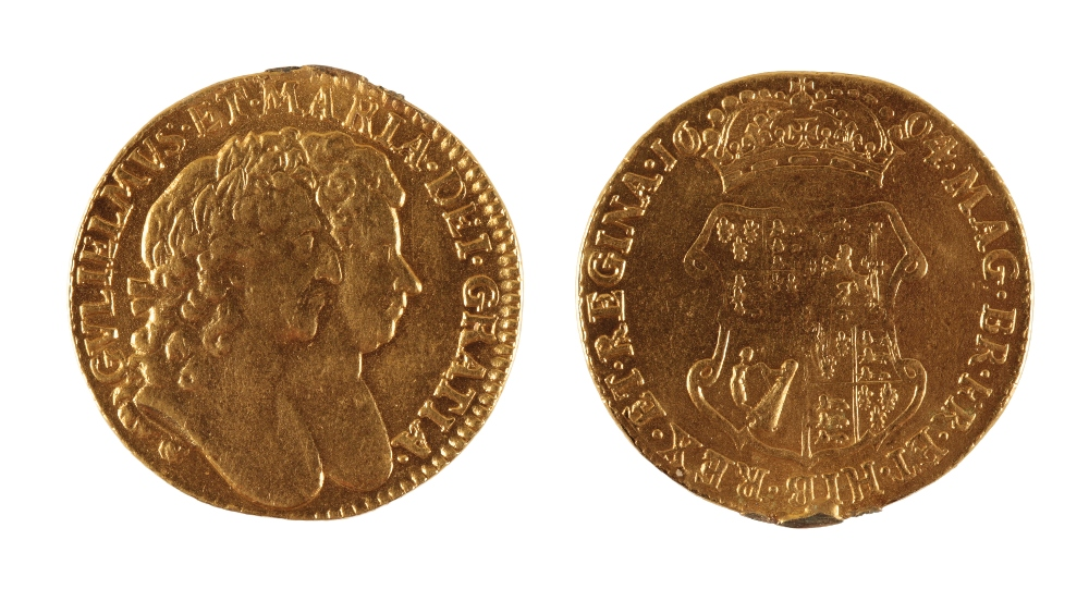 Lot 435 - WILLIAM AND MARY GUINEA, 1694