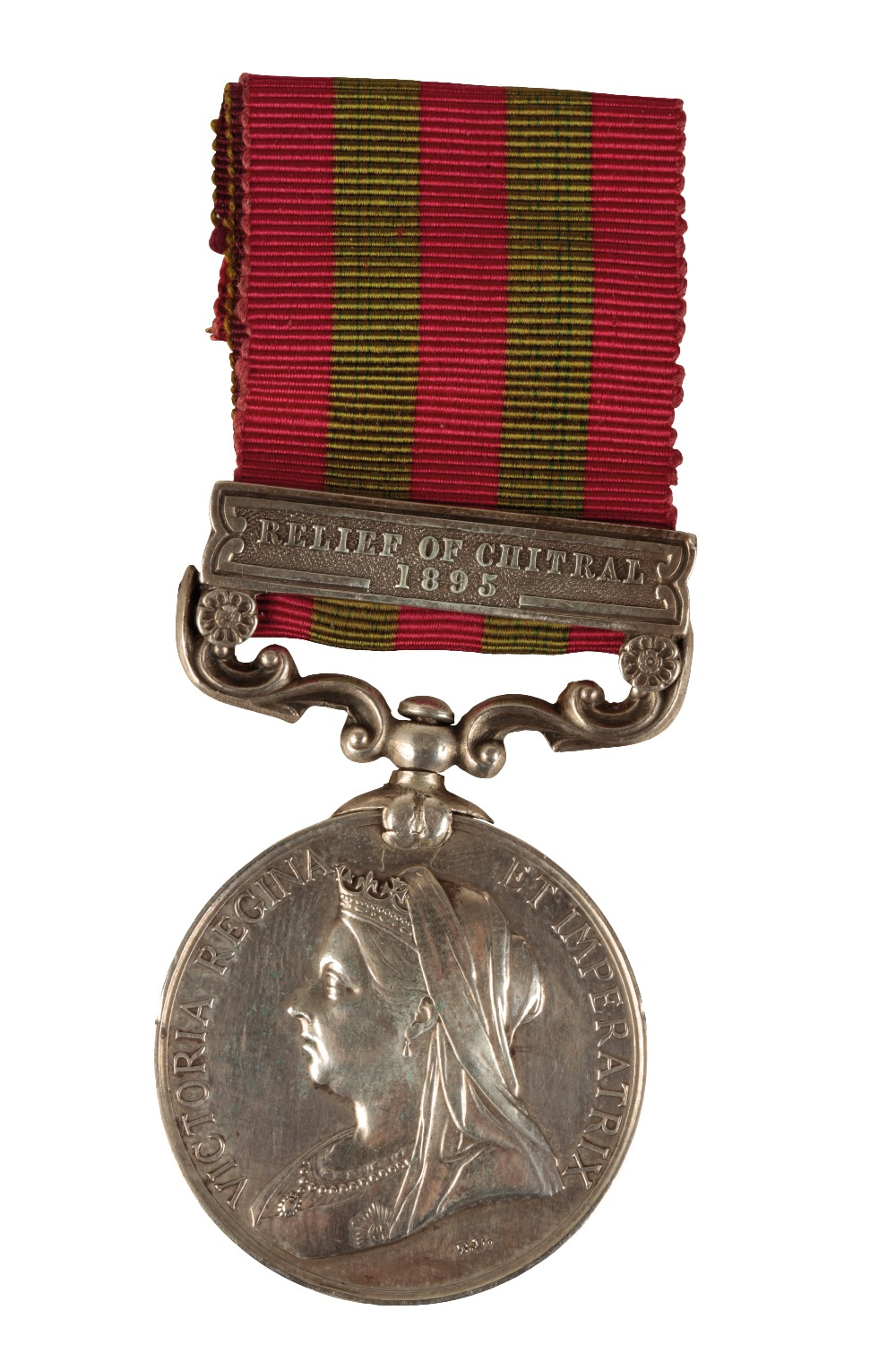 Lot 54 - INDIAN GENERAL SERVICE MEDAL RELIEF OF CHITRAL 1895 TO GNR T HETHERINGTON ROYAL ARTILLERY