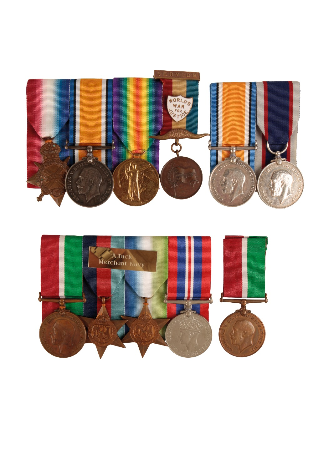 Lot 30 - A COLLECTION OF MERCANTILE MARINE AND NAVAL GREAT WAR MEDALS