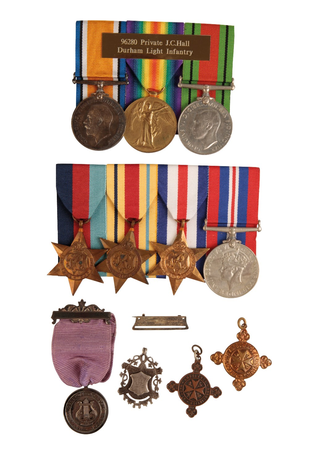 Lot 29 - A FATHER & SON MEDAL GROUP