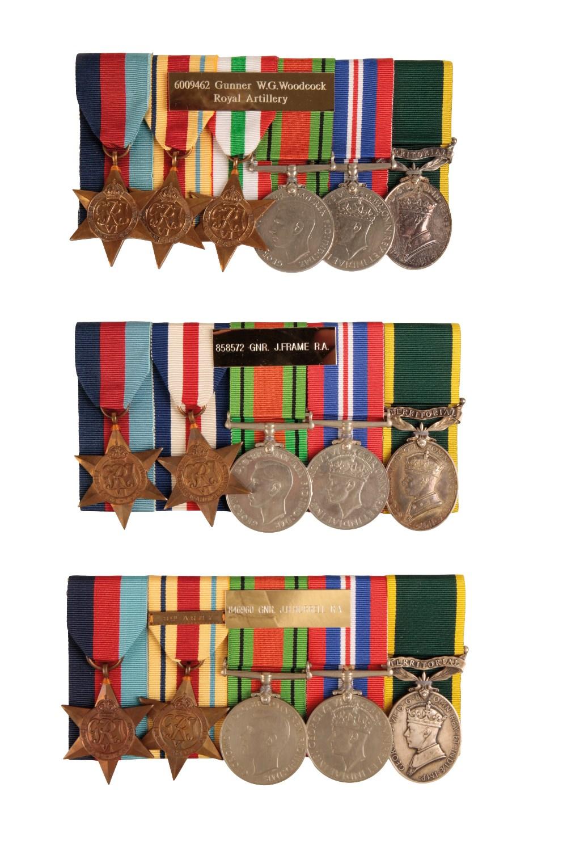 Lot 23 - THREE WW2 ROYAL ARTILLERY TERRITORIAL GROUPS