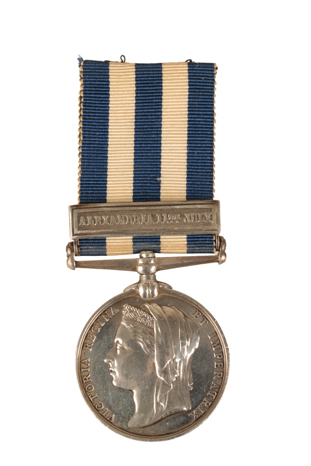 Lot 48 - EGYPT MEDAL 1882 BAR ALEXANDRIA 11TH JULY - TO P. MCKINNON OF HMS MONARCH