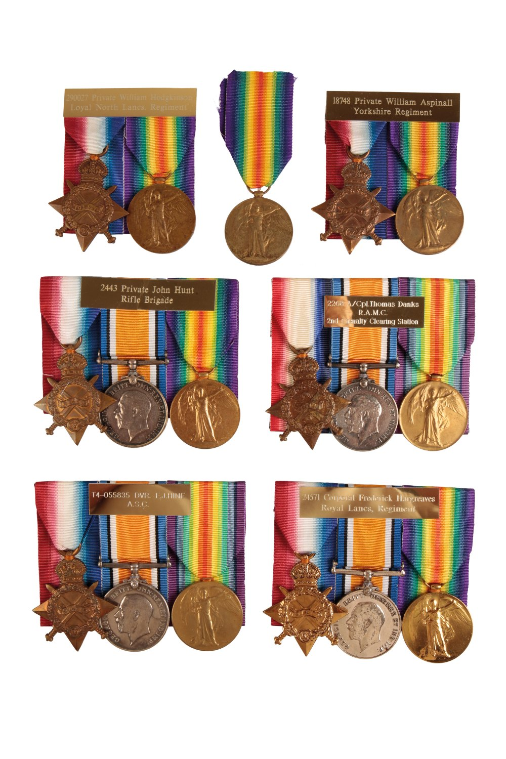 Lot 32 - A COLLECTION OF GREAT WAR MEDALS