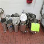 (Lot) S.S. Buckets and Mixing Pails