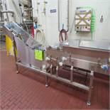 S.S. Prefeed Conveyor, 18'' x 151'' Long (No Belt)