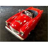 A rare Pines Alfa Romeo pedal car C1960s. Finely detailed plastic body measuring 127cm in length.