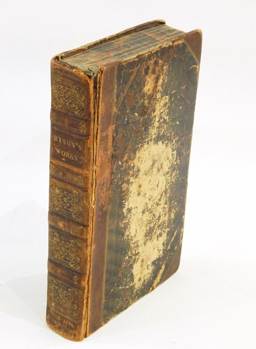 """Lot 6 - """"The Works of Lord Byron including the suppressed poems, complete in one volume"""", Paris, pub A & W"""