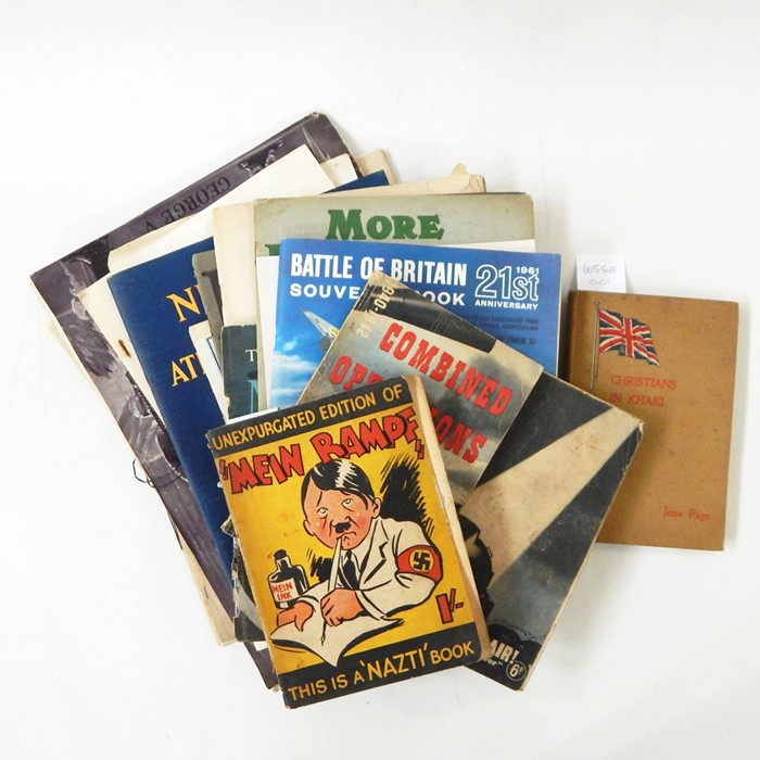 """Lot 22 - WWI and WWII interestincluding Bibbys Annual, """"Mein Rampf"""", paperback Winslow, T E """"Forewarned"""