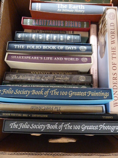 Lot 47 - Folio Society three boxes to include 'Folio Society book of Photographs' 'Book of Days', Henry
