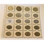 15 Silbermünzen, Tschechoslowakei, und 4 Silbermünzen, Slowakei, zus. 150 gr. Feinsilber