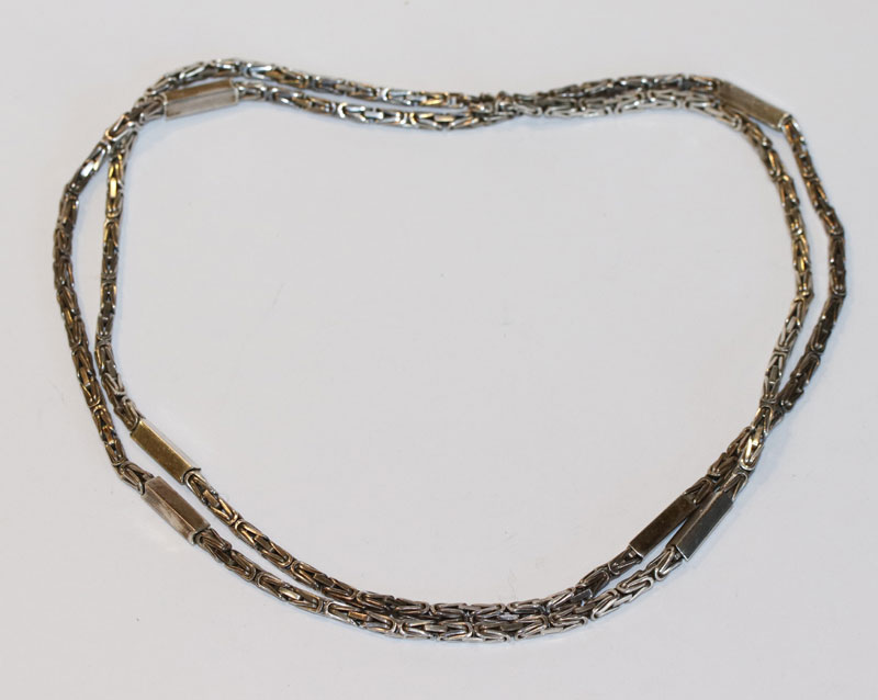 Silber Kette, 52 gr., L 86 cm