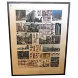 Lithographie 'Moderne Architektur', Helmut Jahn 'Turnvater Jahn', Stararchitekt, u.a. Frankfurter