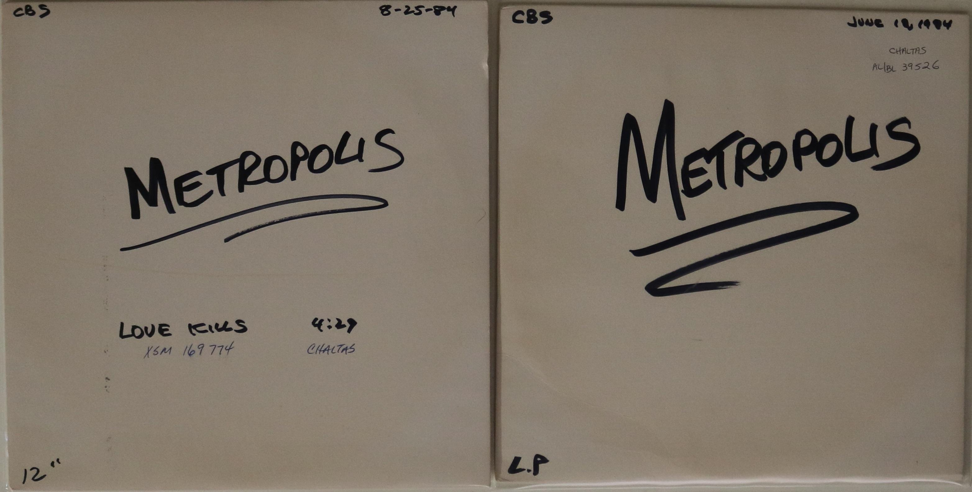 Lot 51 - FREDDIE MERCURY/METROPOLIS ACETATE RECORDINGS - Extremely unusual and very unlikely to seen again