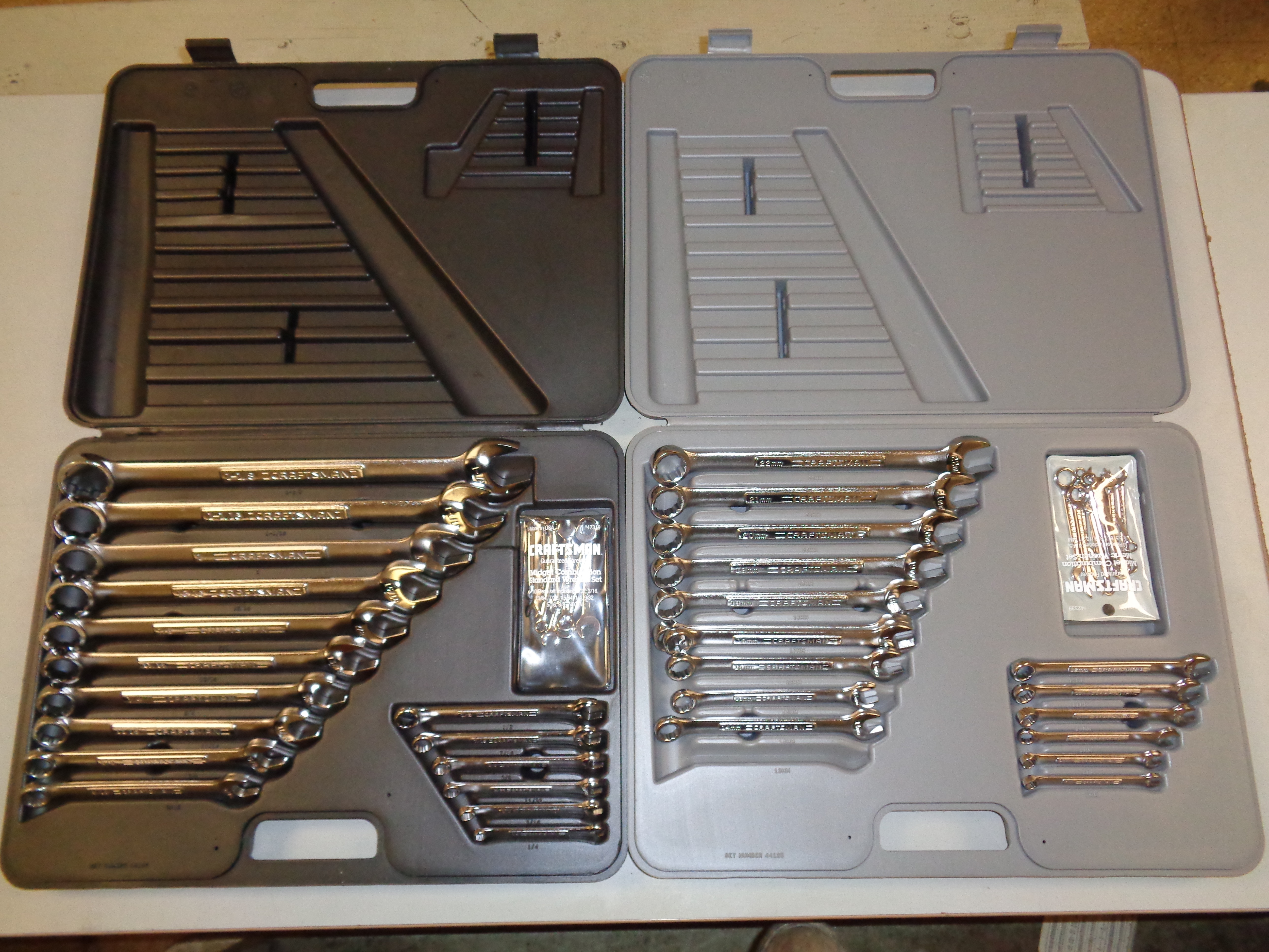 Lot 9 - Set of 2 Craftsman 26 Piece Wrench Sets - Metric and Standard