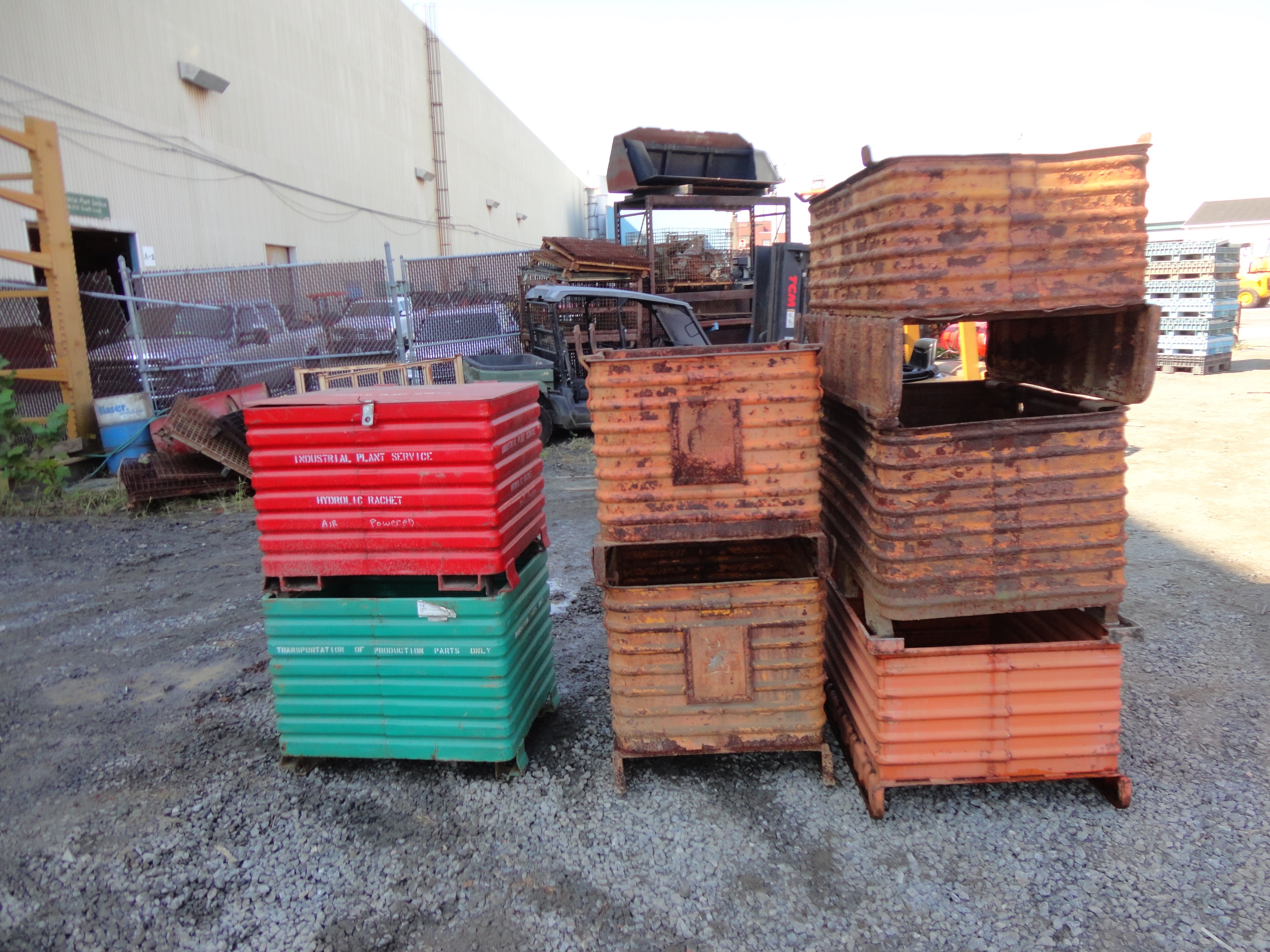 Lot 28 - Lot of 7 Metal Shipping Containers