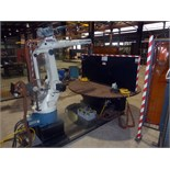 ROBOTIC WELDING SYSTEM, DYNAMIC MDL. DR4200L, Daihen Corp. 6-axis robotic arm, OTC Turbo Pulse