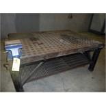 "ACORN TABLE, 5' x 7', w/Wilton 8"" bench vise (Location M-Houston)"