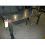 "WELDING TABLE, 4' x 8', w/Wilton 8"" vise, Ridgid Mdl. BC-410 chain vise (Location M-Houston)"