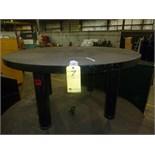 "ROUND WELDING TABLE, 4.5', w/2"" thk. Top & leveling screws (Location M-Houston)"