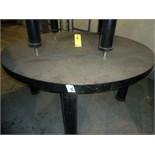 "ROUND WELDING TABLE, 6', w/2"" thk. Top & leveling screws (Location M-Houston)"