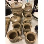 A stoneware tea set