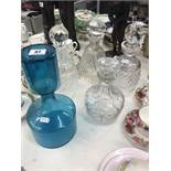 A collection of five decanters inc.