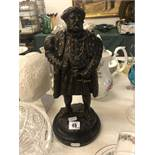 A bronze model of Henry VIII
