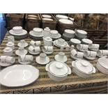 A large twelve place Thomas Medallion dinner/tea/ coffee service, by John Lewis, unused,