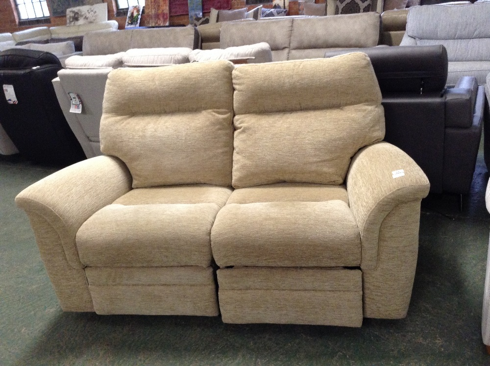 Lot 53 - BEIGE ELECTRIC RECLINING 2 SEATER SOFA (TROO1650-W
