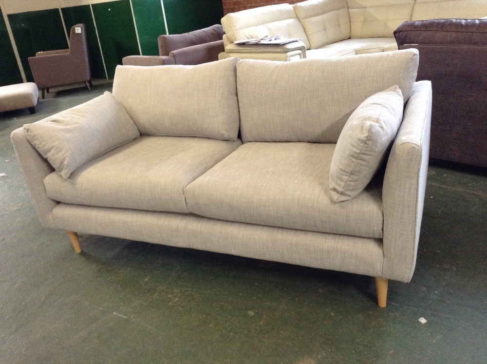 Lot 42 - GREY 2 AND HALF SEATER SOFA