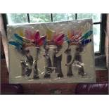 East Urban Home Little Elephants Painting on Canva