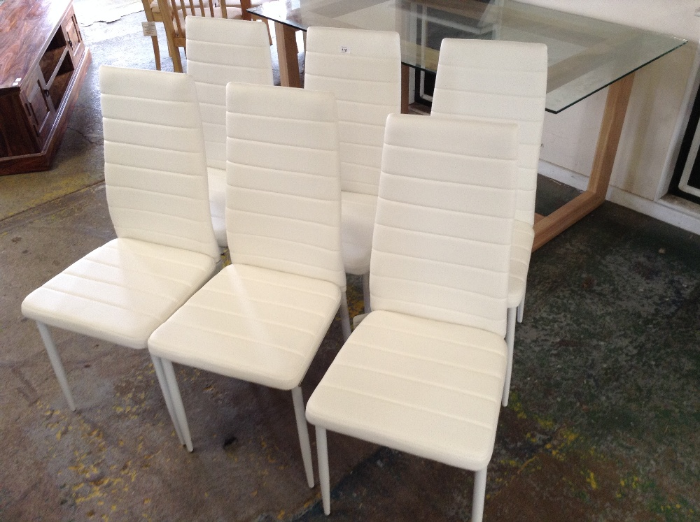 Lot 118 - Norden Home Vienna Upholstered Dining Chair x6(HVW