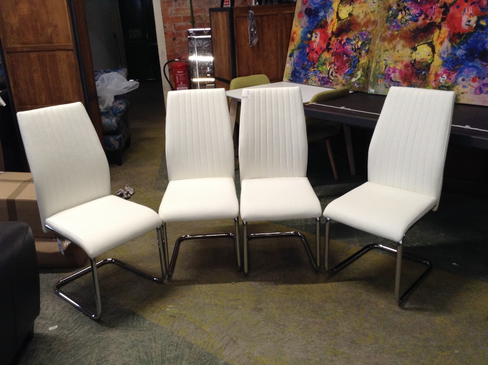 Lot 73 - Home Etc Upholstered Dining Chair x4 ( - 12545/10)
