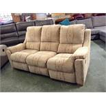 GOLDEN PATTERNED HIGH BACK ELECTRIC RECLINING 3 SE