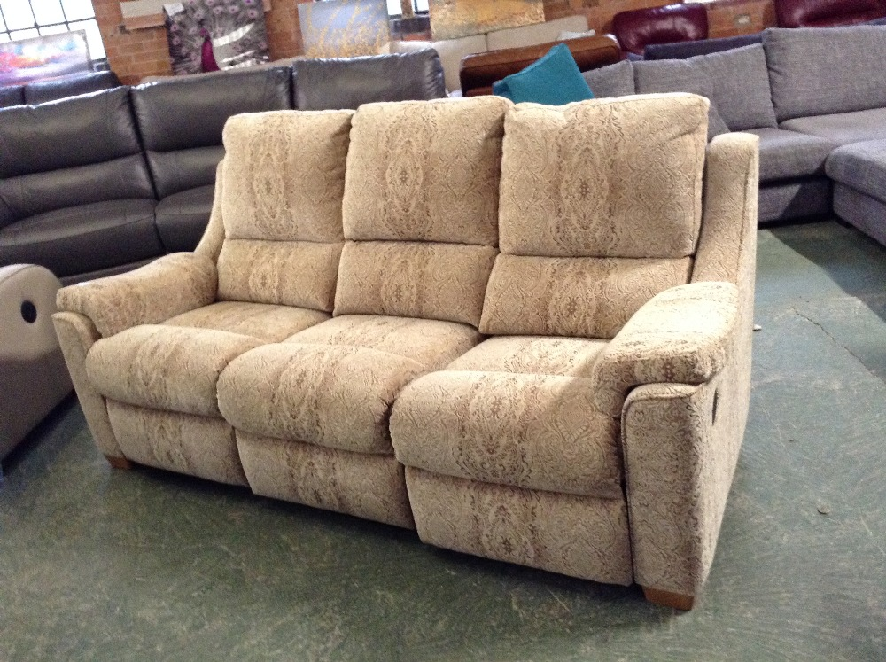 Lot 49A - GOLDEN PATTERNED HIGH BACK ELECTRIC RECLINING 3 SE