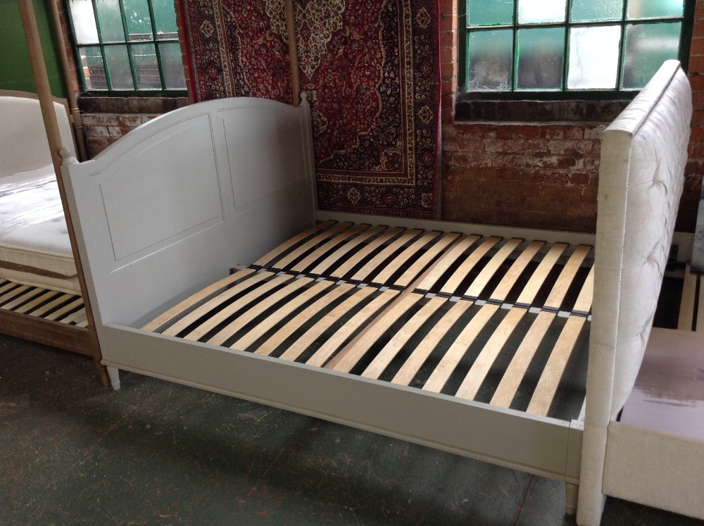 Lot 223 - HAND MADE PAINTED 6 FT BED FRAME