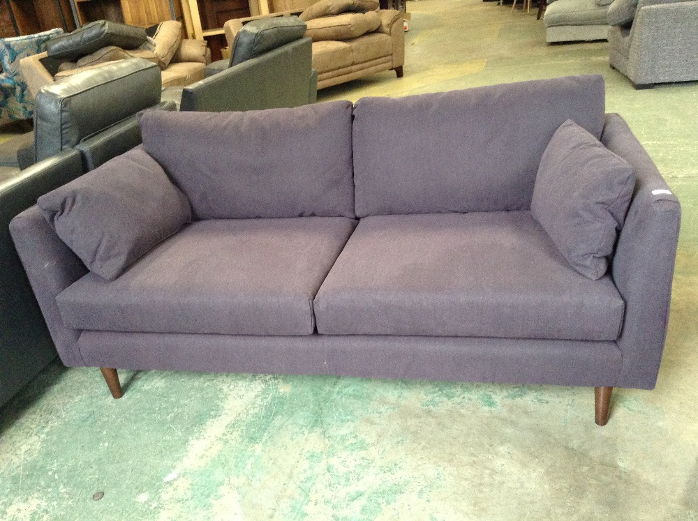 Lot 36 - PURPLE 3 SEATER SOFA