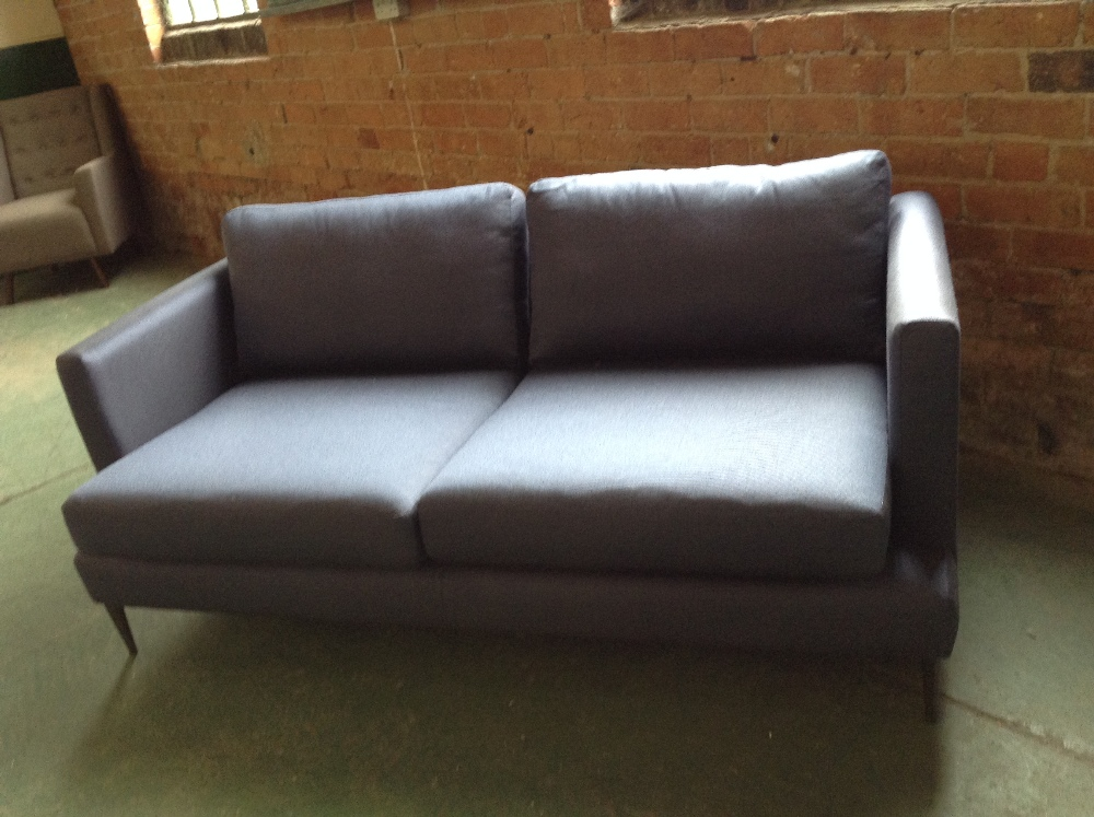 Lot 23 - BLUE 2 AND HALF SEATER SOFA