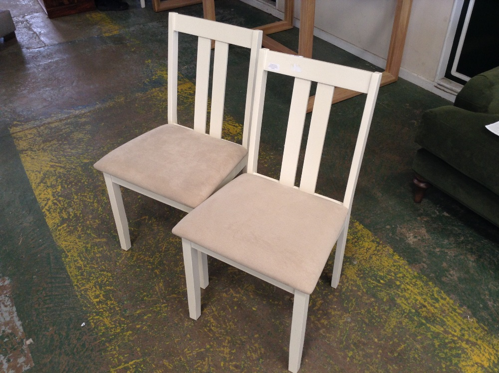 Lot 115 - August Grove Brookvale Solid Wood Dining Chair x2(