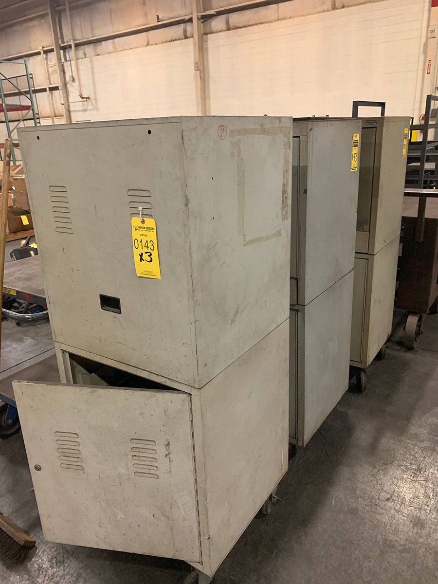 Lot 143 - (3) COMPUTER CABINETS
