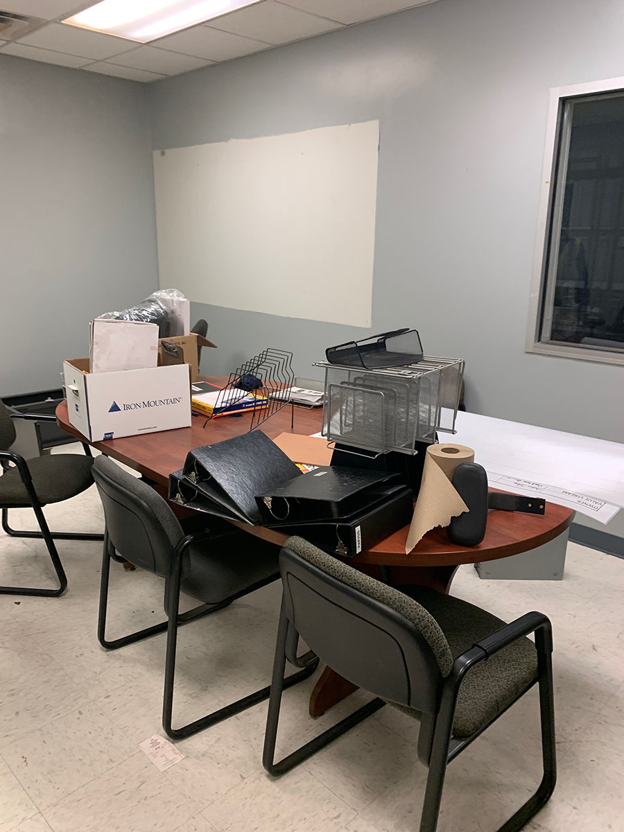 Lot 306 - CONTENTS OF ROOM; FILE CABINETS, CHAIRS, AND WALL DIVIDERS