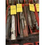 LOT OF ASSORTED SIZE TAPERED DRILL BITS