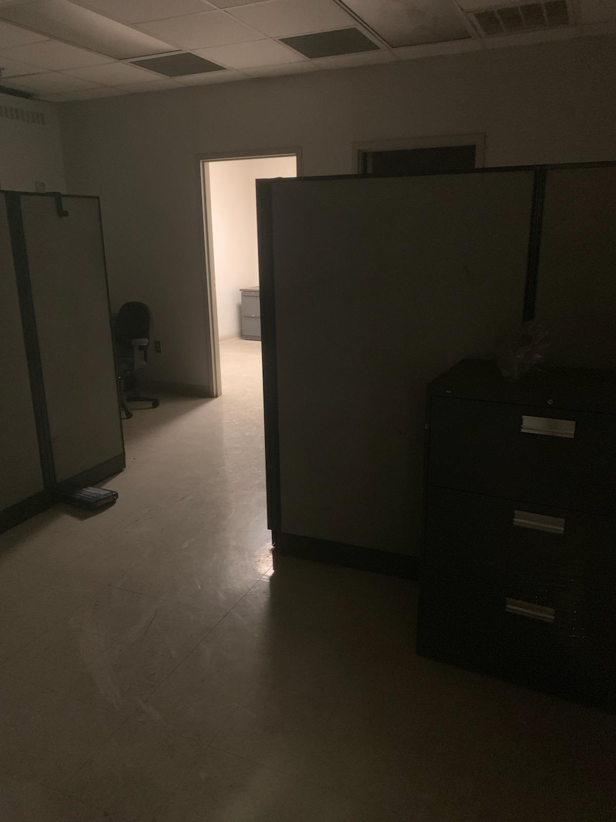 Lot 322A - (3) FILE CABINETS, (2) DESKS, AND (3) CHAIRS