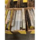 LOT OF ASSORTED SIZED TAPERED DRILL BITS