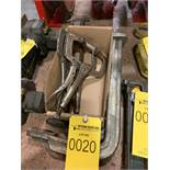 LOT OF ASSORTED WELDING CLAMPS