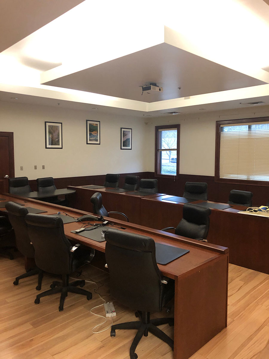 Lot 394 - CONTENTS OF CONFERENCE ROOM; CONFERENCE TABLE & (15) CHAIRS